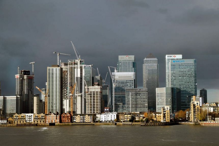 The financial district of Canary Wharf in east London in November 2018.