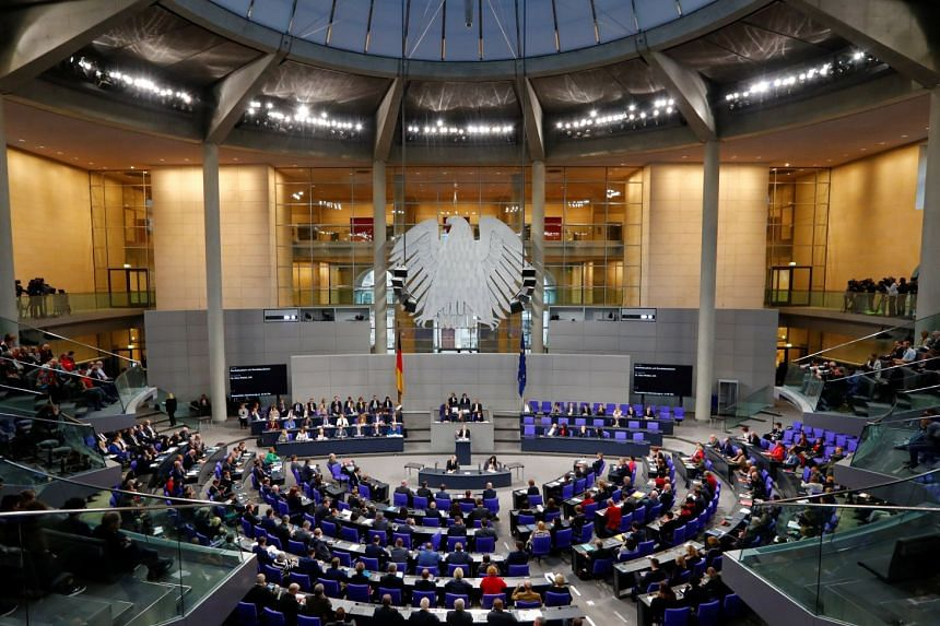Alternative for Germany (AfD) co-leader Alice Weide speaking in a session at the Lower House of Parliament in Berlin on Nov 21, 2018. AfD made it into Parliament for the first time in 2017 and immediately became the strongest opposition party.