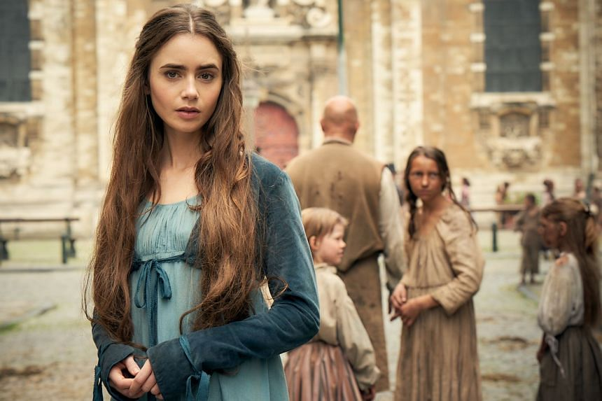 Les Miserables stars Dominic West, David Oyelowo and Lily Collins, and can be watched now on BBC First.