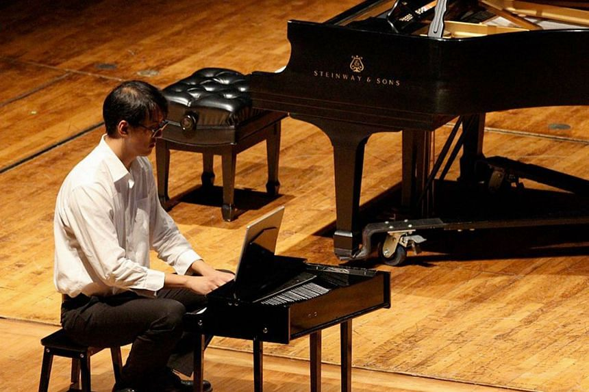 Singaporean musician Gu Wei will perform on the toy piano, alongside with Chinese pianist Huizi Zhang, in Play-Play: A Toy/Piano Concert at the Esplanade Recital Studio on Jan 5, 2019.