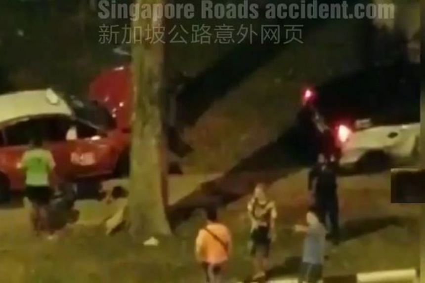 The police were alerted to the accident between the two taxis in Corporation Road, in the direction of Yung Ho Road, at 12.49am on Dec 28, 2018.