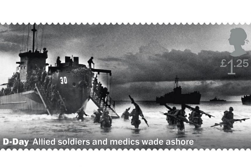 The image selected was meant to show D-Day Allied soldiers and medics wading ashore, but instead showed US troops disembarking in what was then Dutch New Guinea in May 1944.