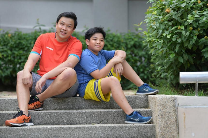 Financial planner and Families for Life council member and blogger, Kelvin Ang, 41, and his son, Ayden Ang, 12.