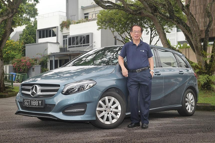 The owner of a Mercedes-Benz B180, Mr Ong Eng Tong is contemplating an electric car next.