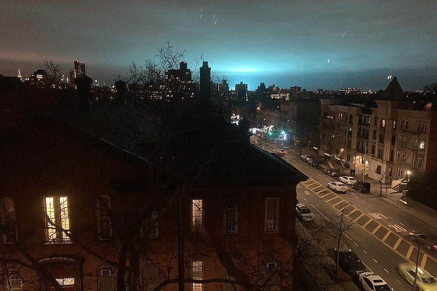 An eerie blue light sent conspiracy theorists into overdrive, with many speculating about aliens or the end of days. It was actually an explosion at a power plant.