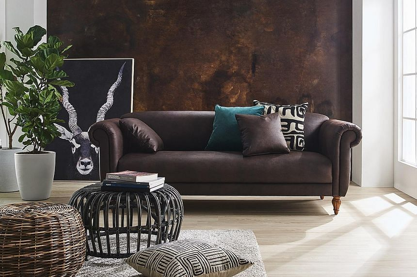 A Baker two-seater sofa ($3,099, above) from Harvey Norman's Millenia Walk flagship store.