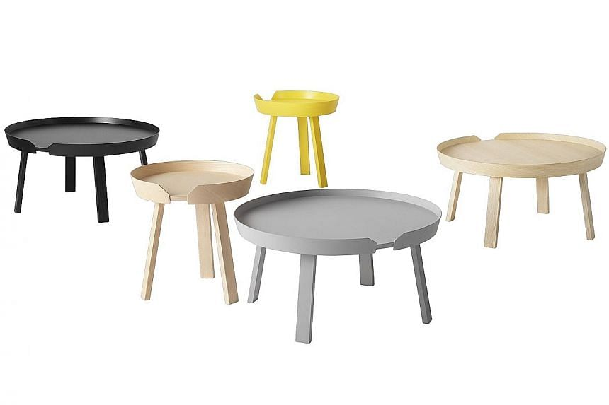 The Around Coffee Table from Muuto (above, prices start at $810 for one), which comes in three sizes, is available at Grafunkt.