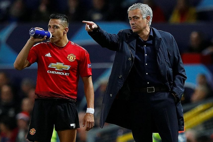 Biggest Letdown Alexis Sanchez with Worst Manager Jose Mourinho in better times, with the Chilean hoping for an upturn in the next half of the season following his former coach's departure.