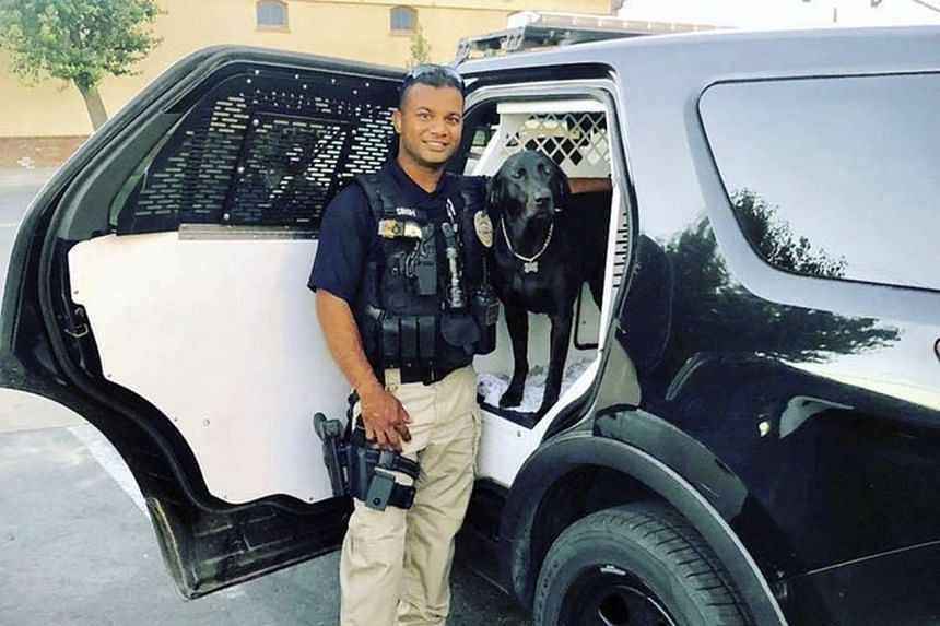 Victim Ronil Singh (above), 33, was a native of Fiji who immigrated to the US to become a police officer.