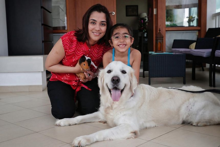 """Sasha Marimuttu, seven, and her mother Nisha Chandwani started a """"Be Kind to Animals Birthday"""" campaign on crowd-funding platform Giving.sg."""