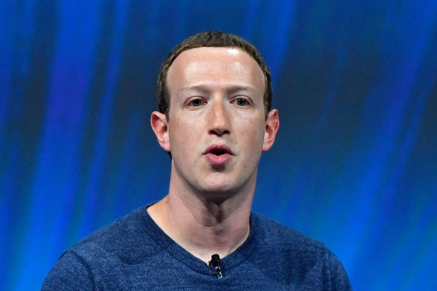 """Zuckerberg (above) said he was """"proud of the progress we've made,"""" fighting misinformation and protecting users' personal data."""