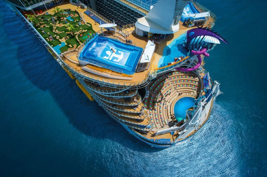 The Royal Caribbean cruise line has been experimenting with immersive technology and guests can virtually visit private islands, for instance, or use AR for gaming.