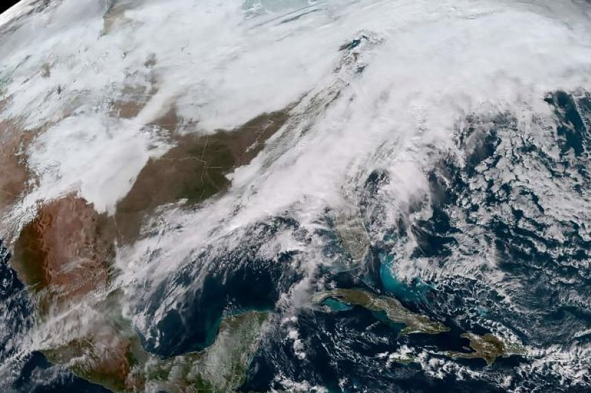 More than 450 flight cancelations and 2,900 delays were reported as of Friday morning, Dec 28, 2018 as the winter storm blanketed areas from the north central plains and the Midwest with eight to 12 inches of snow.