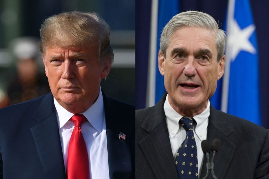 Mueller (right) is investigating possible Russian interference in the 2016 election of Trump (left).