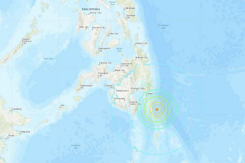 The quake struck south-east of Davao City at a depth of 59km, the US Geological Survey said.