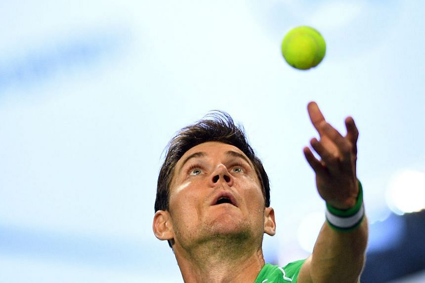 Ebden (above) came from a set down to beat the higher ranked Lucas Pouille.