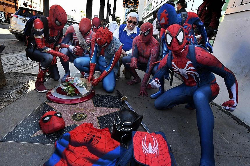 Fans of Marvel comic book legend Stan Lee gathering at his Hollywood Walk of Fame Star in Hollywood, California, on his birthday last Friday. The comic book writer and publisher, whose 70-year career began in the 1940s, died last month at the age of