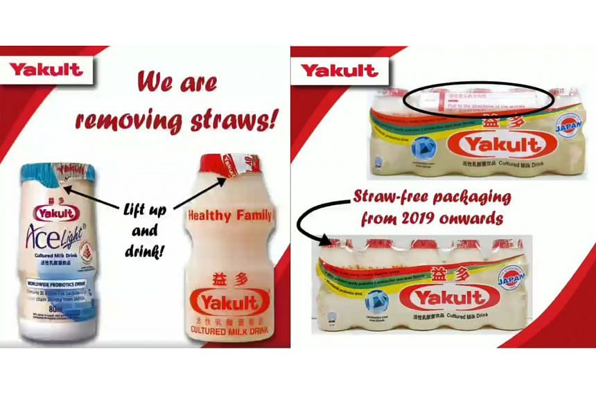 Yakult Singapore said they will no longer be providing straws on their Yakult and Yakult Ace Light products from the end of December.