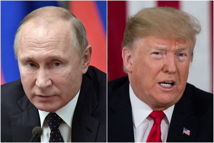 """Russian President Vladimir Putin told US counterpart Donald Trump that his country is ready for dialogue on a """"wide-ranging agenda""""."""