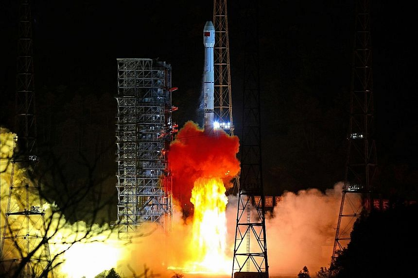 A Long March-3B rocket carrying the Chang'e-4 lunar probe taking off from Xichang Satellite Launch Centre in Sichuan province on Dec 8. The Chang'e-4 first entered a lunar orbit on Dec 12. No landing date has been disclosed.
