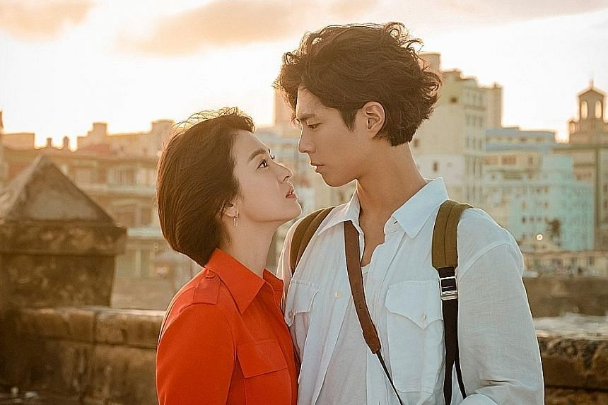 Song Hye-kyo and Park Bo-gum spent about a month in September in Cuba filming Encounter.