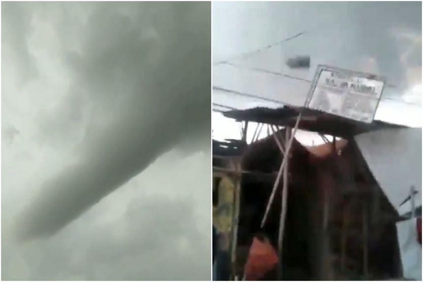 The tornado swept through a village in Cirebon at around at around 3.30pm local time on Dec 30, 2018.