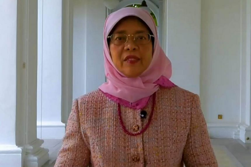 """President Halimah Yacob said in her New Year Message that """"as we enter 2019, the uncertainties and volatility we have to deal with have intensified""""."""