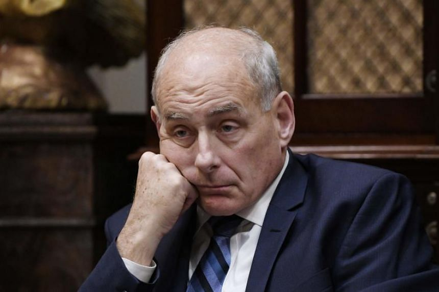 Outgoing White House chief John Kelly's (pictured) relationship with the president reportedly deteriorated and he is due to be replaced at the end of the year by Mick Mulvaney, who currently serves as budget director.