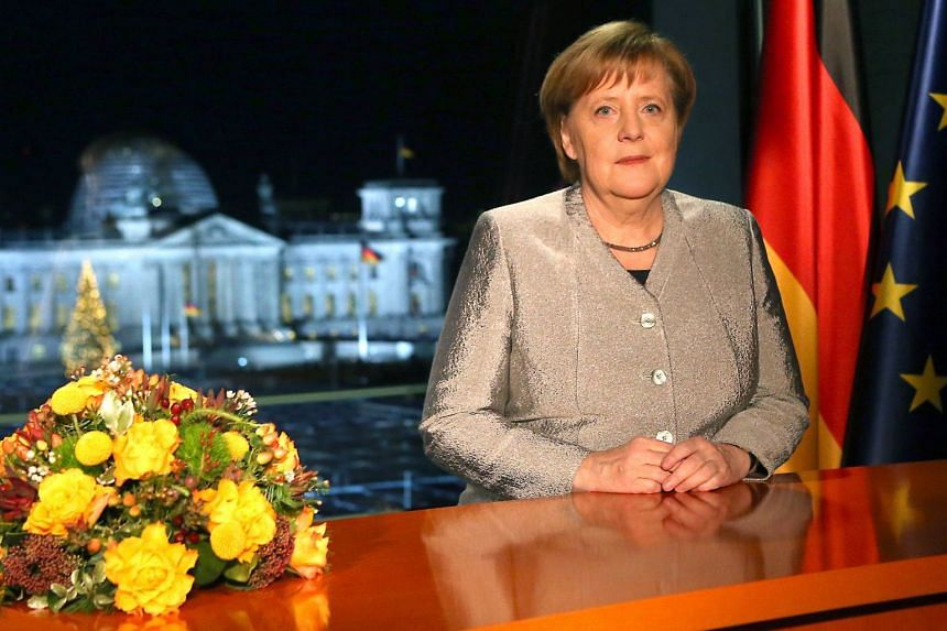 In her New Year's address to Germans, Chancellor Angela Merkel said long-held certainties about international cooperation were being put to the test.