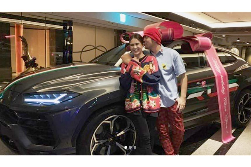 Singer Jay Chou received a Lamborghini Urus from his wife, actress-model Hannah Quinlivan.
