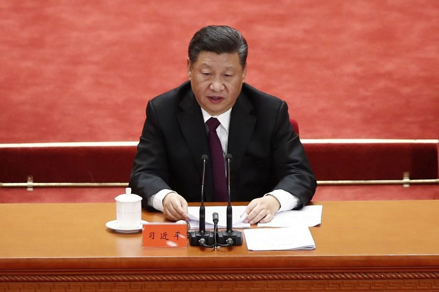 Chinese President Xi Jinping delivers a speech during a celebration meeting to celebrate the 40th anniversary of China's reform and opening up at the Great Hall of the People in Beijing, China, on Dec 18, 2018.