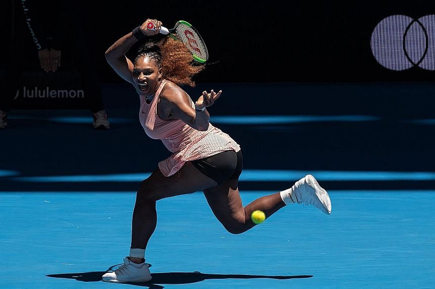 Serena Williams overcame rust and ankle problems to beat Maria Sakkari 7-6 (7-3), 6-2 in the women's singles match of the United States v Greece Hopman Cup tie in Perth, Australia, yesterday. In her first competitive match since losing the US Open fi