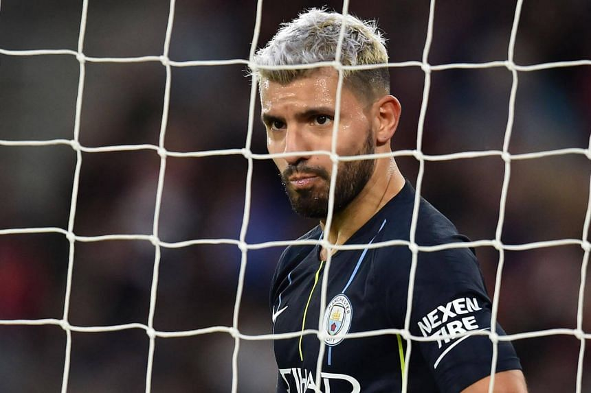 Manchester City's Argentinian striker Sergio Aguero looks on during the English Premier League football match between Southampton and Manchester City, on Dec 30, 2018.