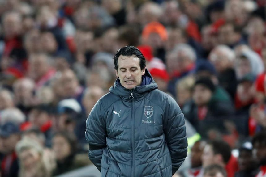 Arsenal manager Unai Emery immediately apologised to the supporter following the incident during the closing moments of Arsenal's 1-1 Premier League draw at the Amex Stadium.