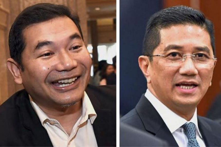 Parti Keadilan Rakyat (PKR) leader Azmin Ali (right) and his faction in PKR were believed to be unhappy with Mr Anwar Ibrahim's appointing Mr Rafizi Ramli (left) as one of the party's new vice-presidents.