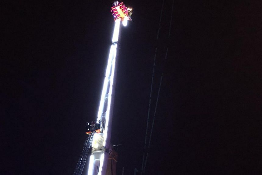 """The ride's owner Alexandre Thinel said """"a new part broke and it blocked""""."""
