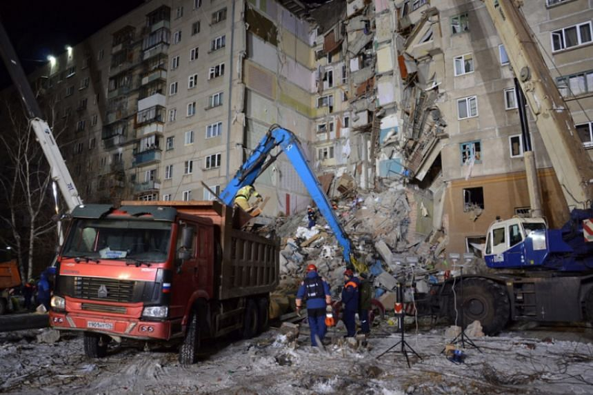 Battling freezing temperatures, rescuers had worked through the night combing through debris and trying to stabilise the remaining walls.