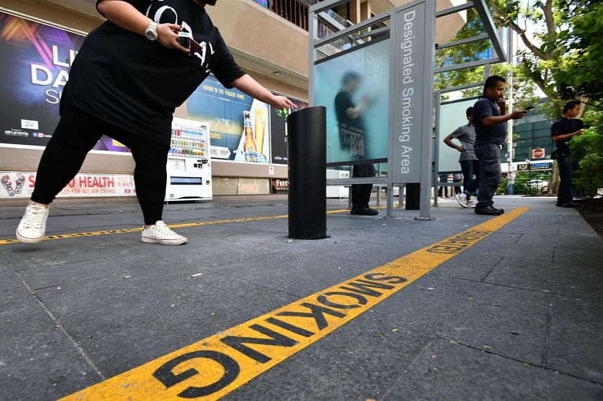 More than 40 designated smoking areas are available within the Orchard Road no smoking zone.