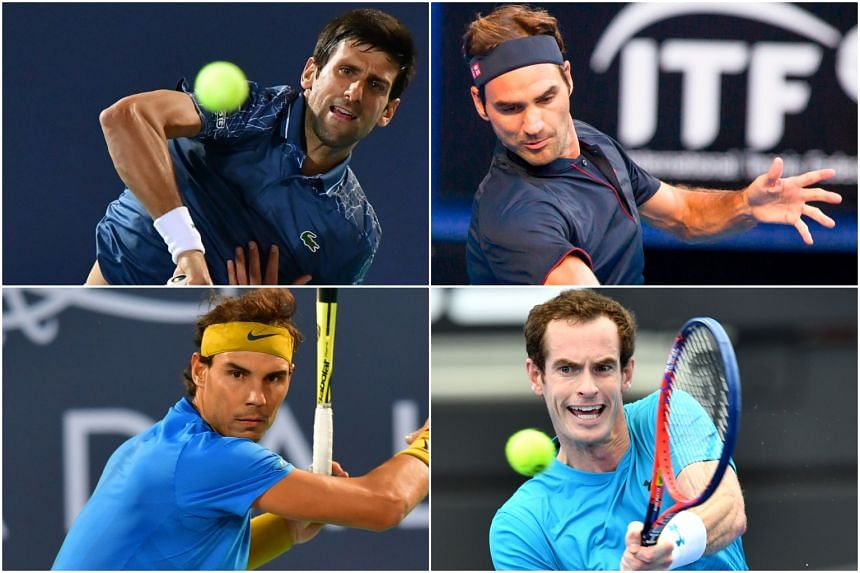 """The """"Big Four"""" - Novak Djokovic, Roger Federer, Rafael Nadal and Andy Murray - have won 32 Grand Slams between them since and including 2010."""