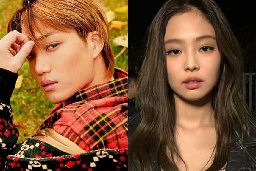 EXO's Kai and Black Pink's Jennie were reportedly seen walking while holding hands in a park in Mapo-gu in Seoul.