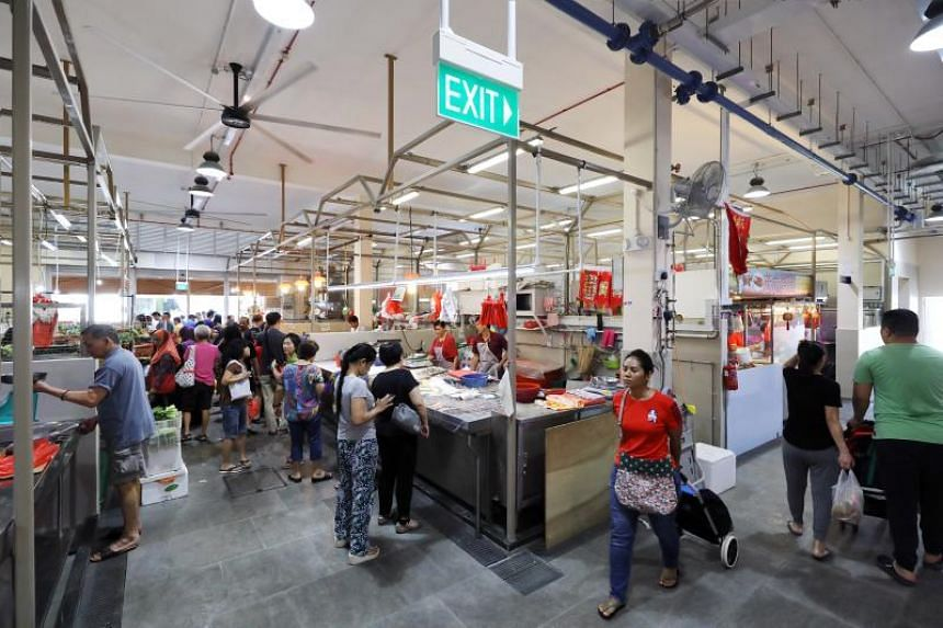 The new $6.2 million two-storey market, eating house and community complex - known as Jurong Central Plaza - is located at the same site as its predecessor.