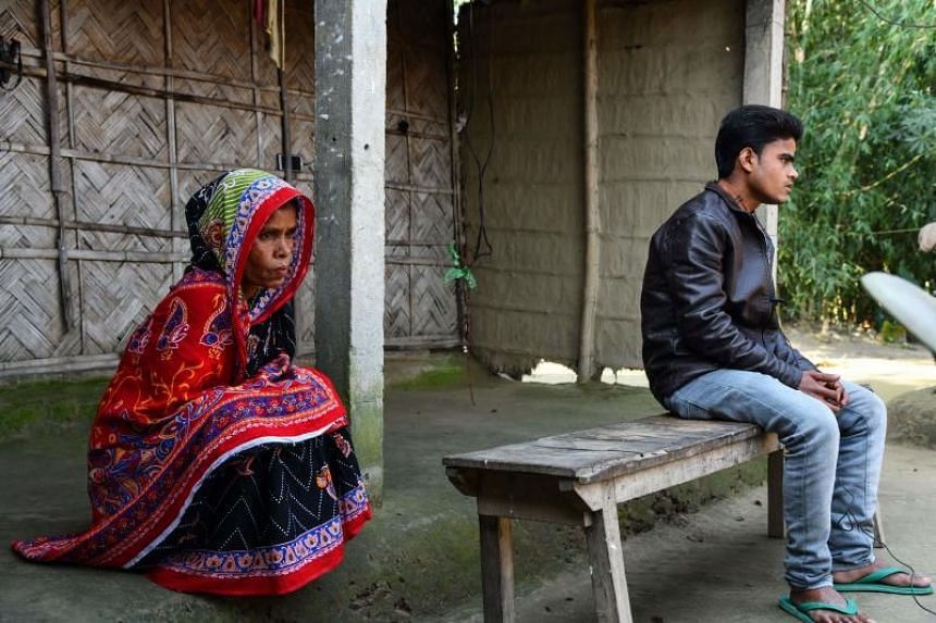 Mr Saheb Ali, a survivor of an illegal coal mine flooding on Dec 13, 2018, and his mother Sharitan Bibi in their village of Bhangnamari in Assam state.