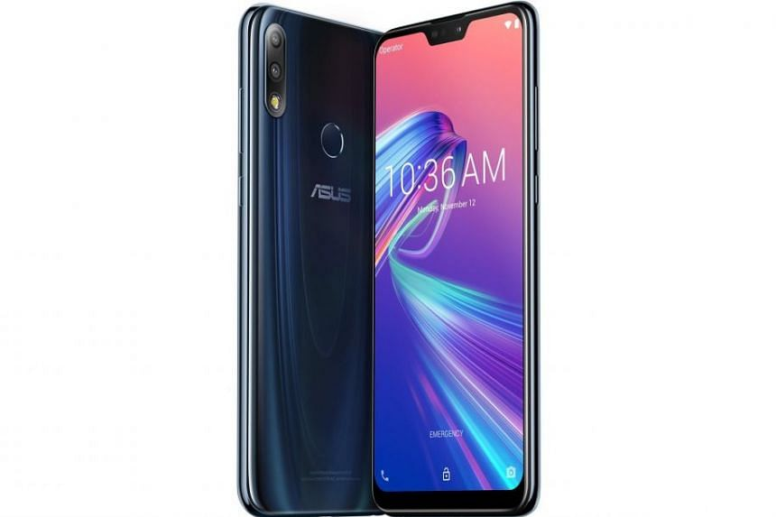 The Asus ZenFone Max Pro M2 retains its predecessor's key selling points - a massive 5,000mAh battery, stock Android interface and competitive pricing ($349).PHOTO: ASUS