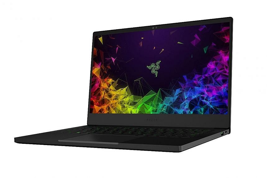 The Stealth ultrabook's screen displays rich colours.