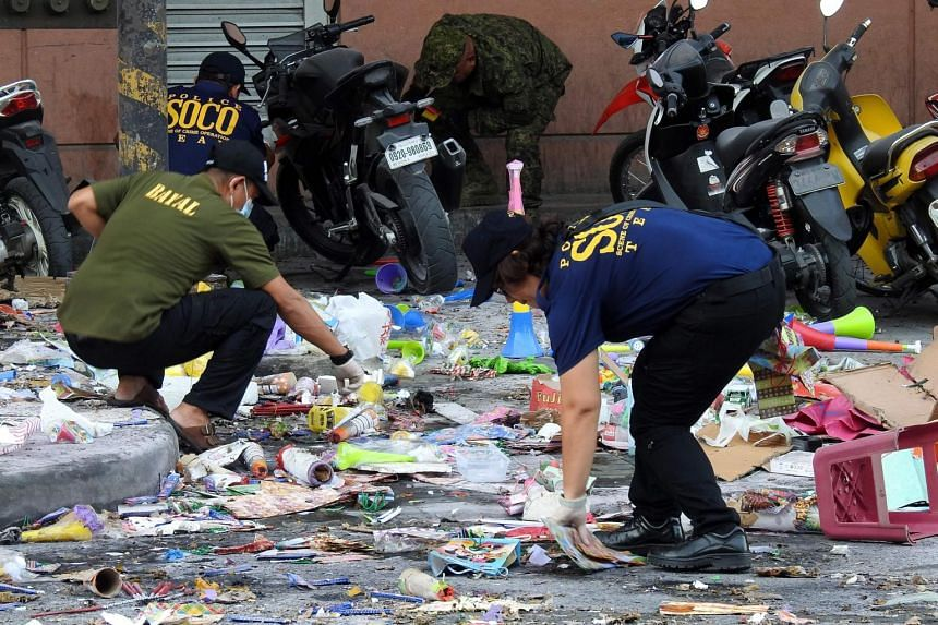 A bomb went off in Cotabato City on the southern Philippine island of Mindanao on Dec 31, 2018, killing two and wounding dozens.