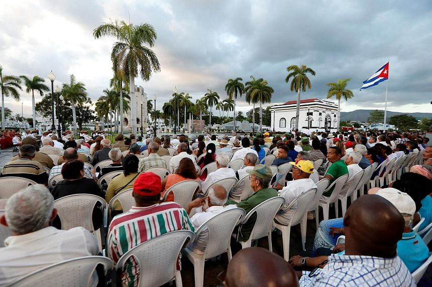 A gathering at Santa Ifigenia Cemetery in Santiago de Cuba, on Jan 1, 2019, during the celebration of the 60th Anniversary of Cuban Revolution.