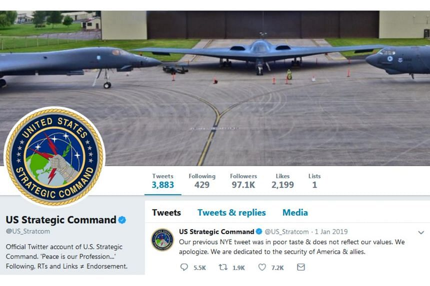 The post was deleted within hours and replaced with a subsequent apology from the Strategic Command's official account.