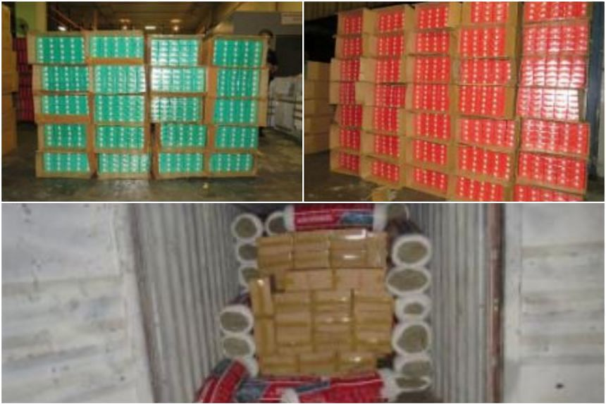 Immigration and Checkpoints Authority officers found 7,498 cartons and 16 packets of duty-unpaid cigarettes hidden inside the container on Dec 27, 2018.