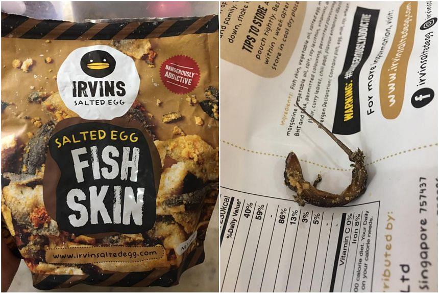 A Bangkok customer found a dead lizard coated with salted egg in a half-eaten packet.