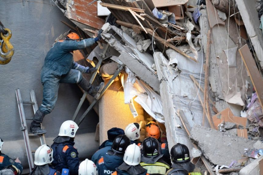 The local governor's office said 14 bodies had been found and that 27 people were unaccounted for following the New Year's Eve explosion in the city of Magnitogorsk.